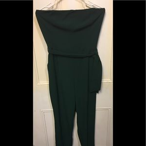 Dynamite l Strapless Emerald Green Jumpsuit